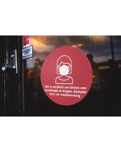 Mondkapje Stickers